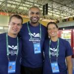 Luciano, Anderson de Oliveira (Vôlei) e Tatiana Lemos (Natação)